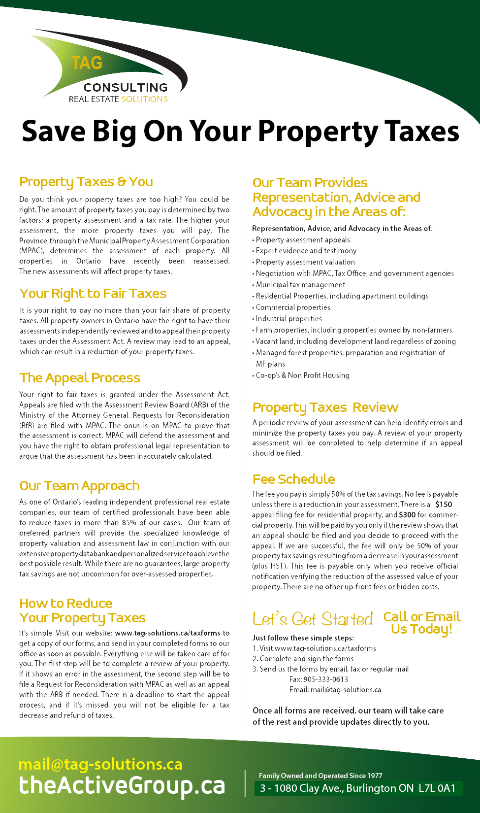 TAG Consulting - Property Tax Appeals & More